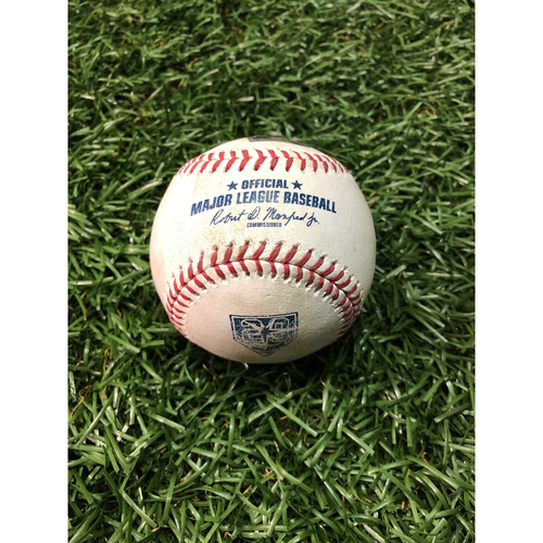 Photo of 20th Anniversary Game Used Baseball: Masahiro Tanaka strikes out Kevin Kiermaier - July 24, 2018 v NYY
