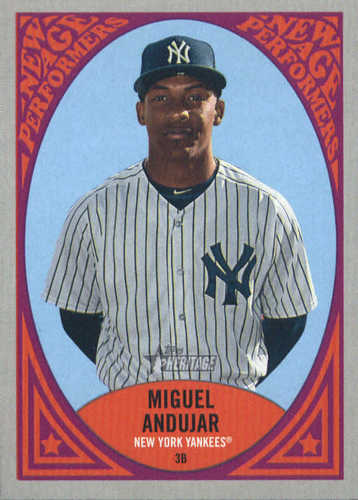 Photo of 2019 Topps Heritage New Age Performers #NAP4 Miguel Andujar