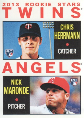 Photo of 2013 Topps Heritage #116 Chris Herrmann RC/Nick Maronde RC