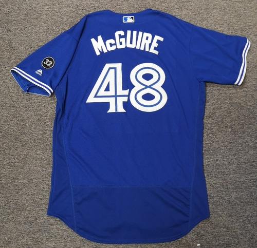 Photo of Authenticated Game Used Jersey - #48 Deck McGuire (May 18, 18). Size 48