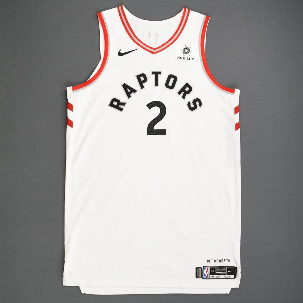 hot sale online 1aecb 2a89d Kawhi Leonard - Toronto Raptors - Game-Worn Association ...