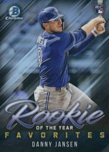 Photo of 2019 Bowman Chrome Rookie of the Year Favorites #ROYF6 Danny Jansen