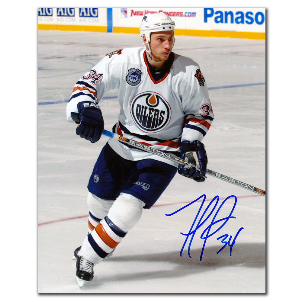 Fernando Pisani Edmonton Oilers RUSH Autographed 8x10