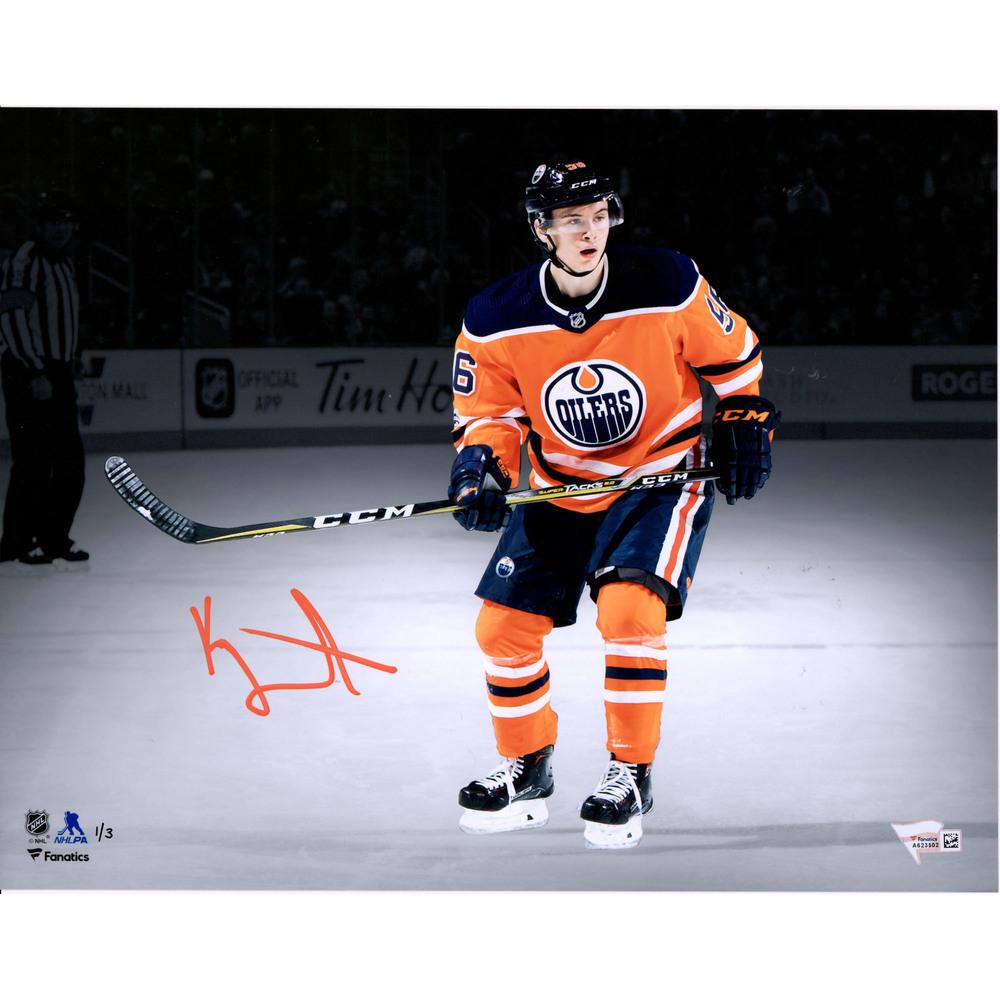 Kailer Yamamoto Edmonton Oilers Autographed 11