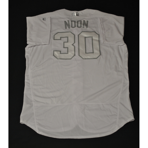 "Photo of Brett ""NOON"" Anderson Oakland Athletics Game-Used 2019 Players' Weekend Jersey"