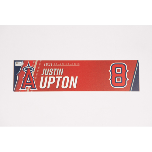Photo of Justin Upton Team Issued 2019 Locker Tag
