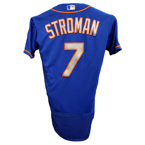Photo of Marcus Stroman #7 - Team Issued Blue Alt. Road Jersey - 2019 Season