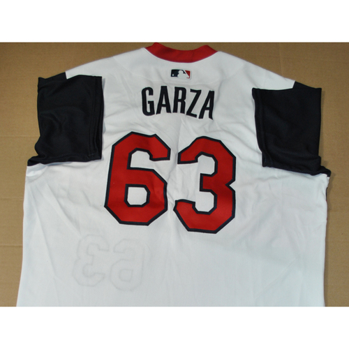 Photo of Game-used Jersey - 2021 Little League Classic - Los Angeles Angels vs. Cleveland Indians - 8/22/2021 - Great Lakes, Player Name: Justin Garza #63