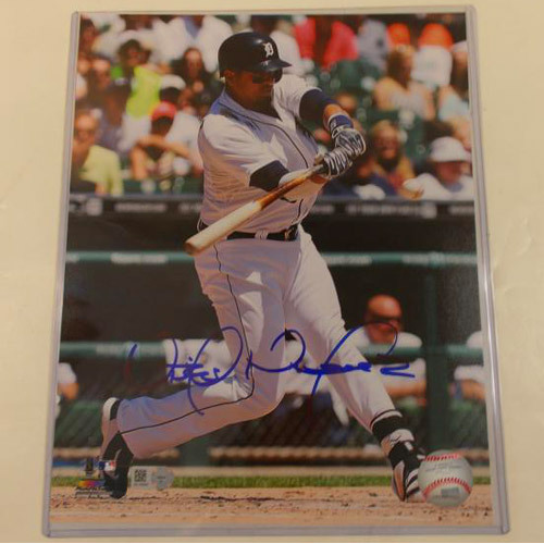 Detroit Tigers Victor Martinez Autographed 8x10 Photo Plaque