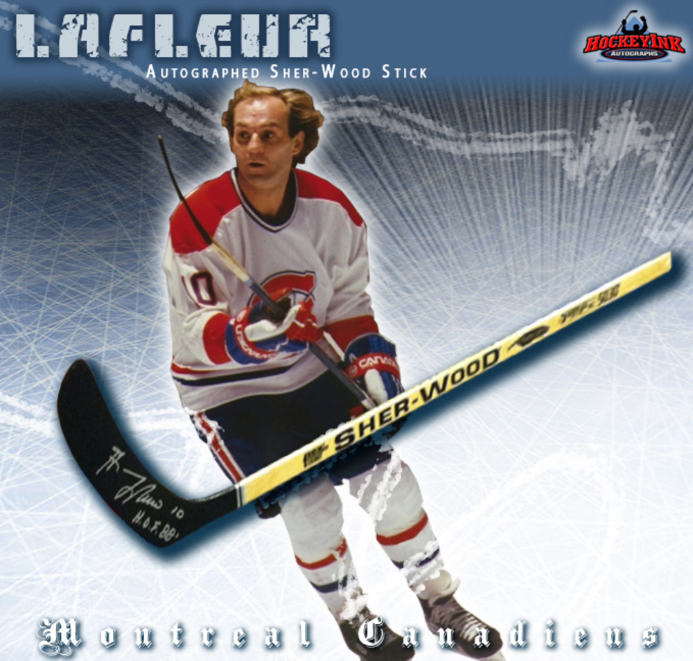 GUY LAFLEUR Signed Sher-Wood Stick - Montreal Canadiens