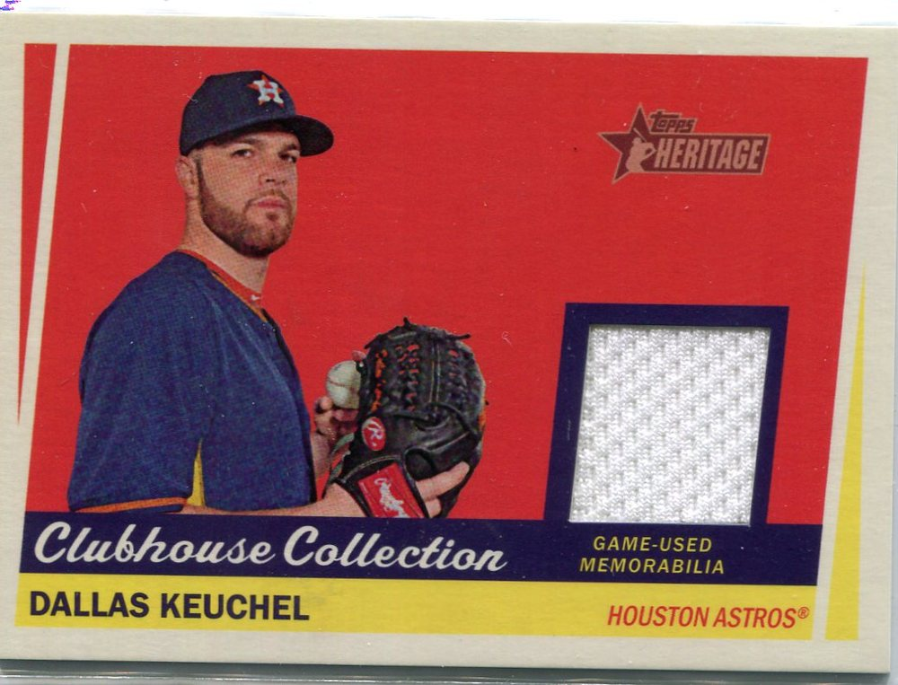 2016 Topps Heritage Clubhouse Collection Relics game worn jersey Dallas Keuchel