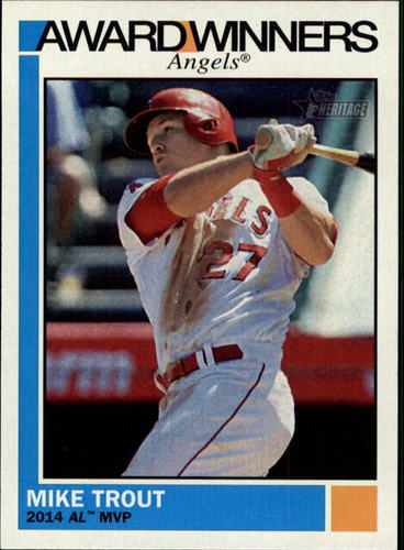 Photo of 2015 Topps Heritage Award Winners Mike Trout