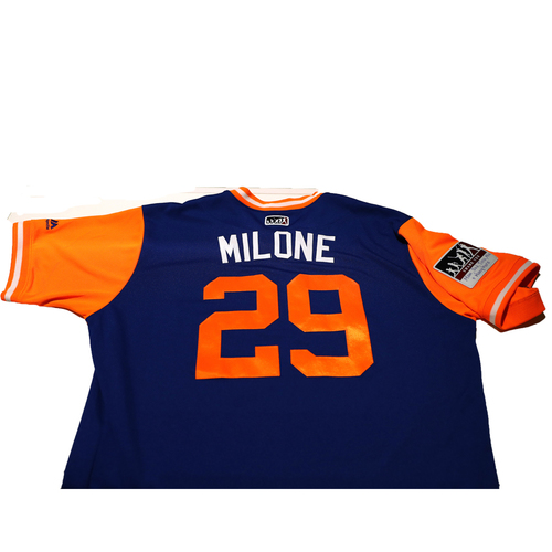 "Photo of Tommy ""Milone"" Milone New York Mets Game-Used Players Weekend Jersey"