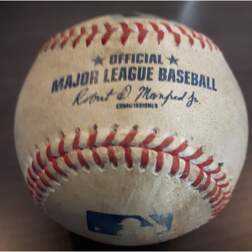 Photo of Authenticated Game Used Baseball - Single by #29 Devon Travis vs. Andrew Cashner. Bottom of the 5th inning. (May 28, 2017)