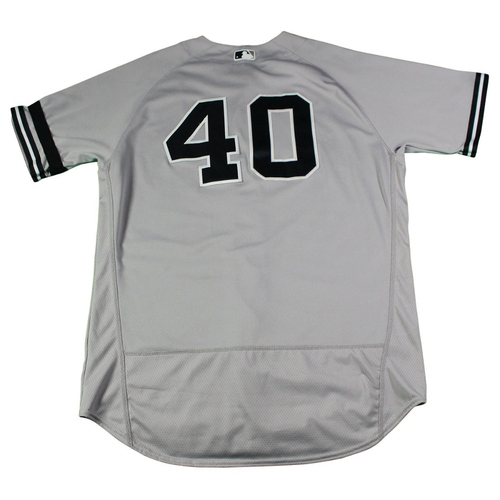 Photo of Luis Severino New York Yankees 2017 Game-Used #40 Grey Jersey (9/24/2017) (Size 48)