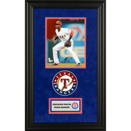 "Photo of Jurickson Profar Texas Rangers Deluxe Framed Autographed 8"" x 10"" Photo"