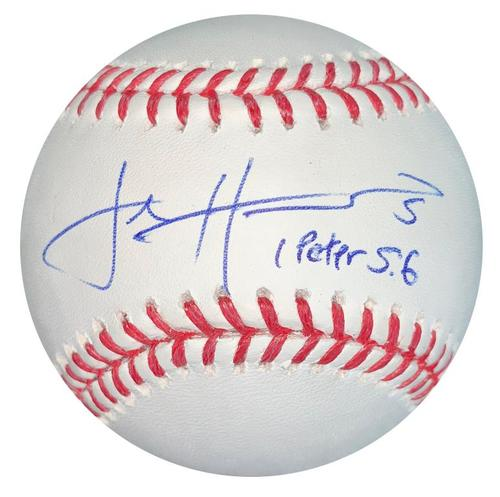Photo of Josh Harrison Autographed Baseball with Inscription