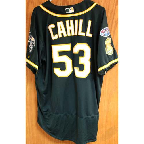Photo of Team Issued Jersey: Trevor Cahill AL Wild Card Game 10/3/18