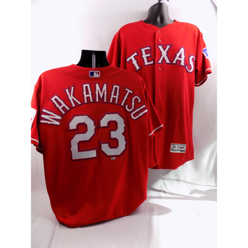 Photo of 8/7/18 - Game-Used Red Jersey - Don Wakamatsu