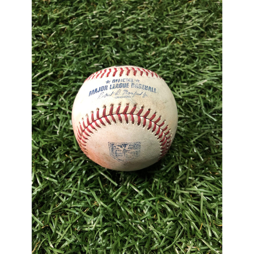 20th Anniversary Game Used Baseball: Brett Gardner walk, Aaron Judge pop out, Didi Gregorius single off Jose Alvarado - July 25, 2018 v NYY