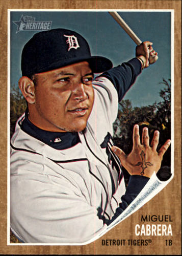 Photo of 2011 Topps Heritage #150 Miguel Cabrera