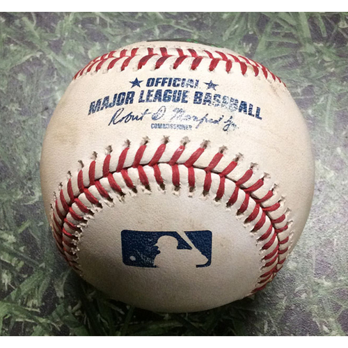 Photo of Game-Used Baseball WSH@MIL 07/24/18 - Junior Guerra - Ryan Zimmerman: RBI Double