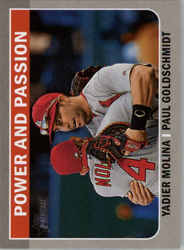 Photo of 2019 Topps Heritage Combo Cards #CC5 Paul Goldschmidt/Yadier Molina
