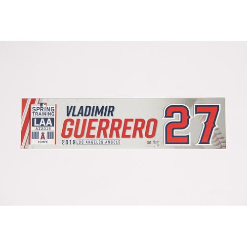 Photo of Vladimir Guerrero Team Issued 2019 Spring Training Locker Tag