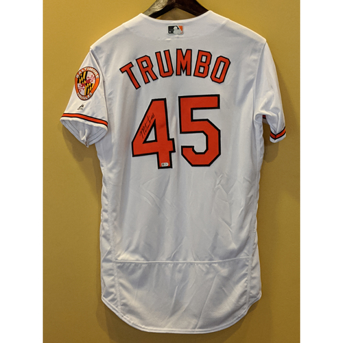 Photo of Mark Trumbo - Autographed Home Jersey