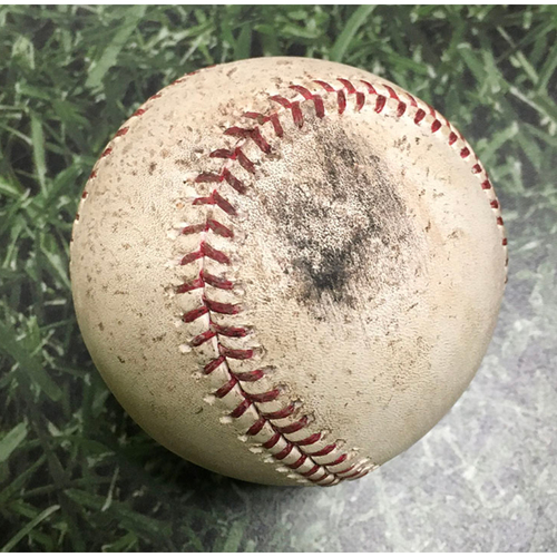 Photo of Game-Used Baseball LAD@MIL 08/16/11 - Chad Billingsley - Prince Fielder: Groundout