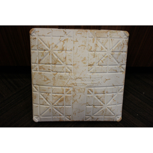 Photo of Game-Used Opening Day Base - New York Yankees at Baltimore Orioles (7/29/2020) - 2nd Base - Innings 7-9
