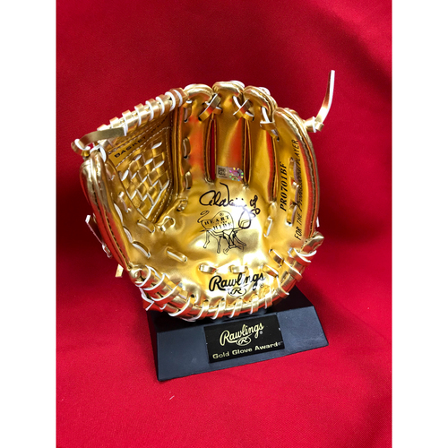 Photo of Adam Wainwright Autographed Mini Gold Glove