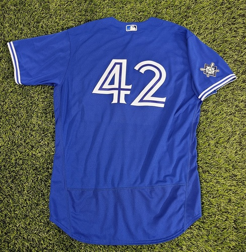 Photo of CHARITY AUCTION: Authenticated Team Issued #42 Jersey: Nate Pearson (2020 Season). Size 50.