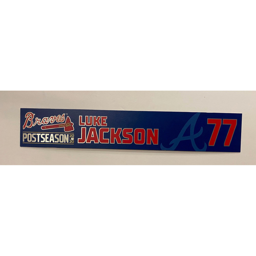 Photo of Luke Jackson Team Issued 2020 Postseason Nameplate