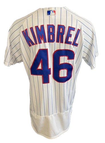 Photo of Craig Kimbrel Game-Used Jersey -- Mother's Day 2021 -- Pirates vs. Cubs -- 5/9/21 -- Size 44C