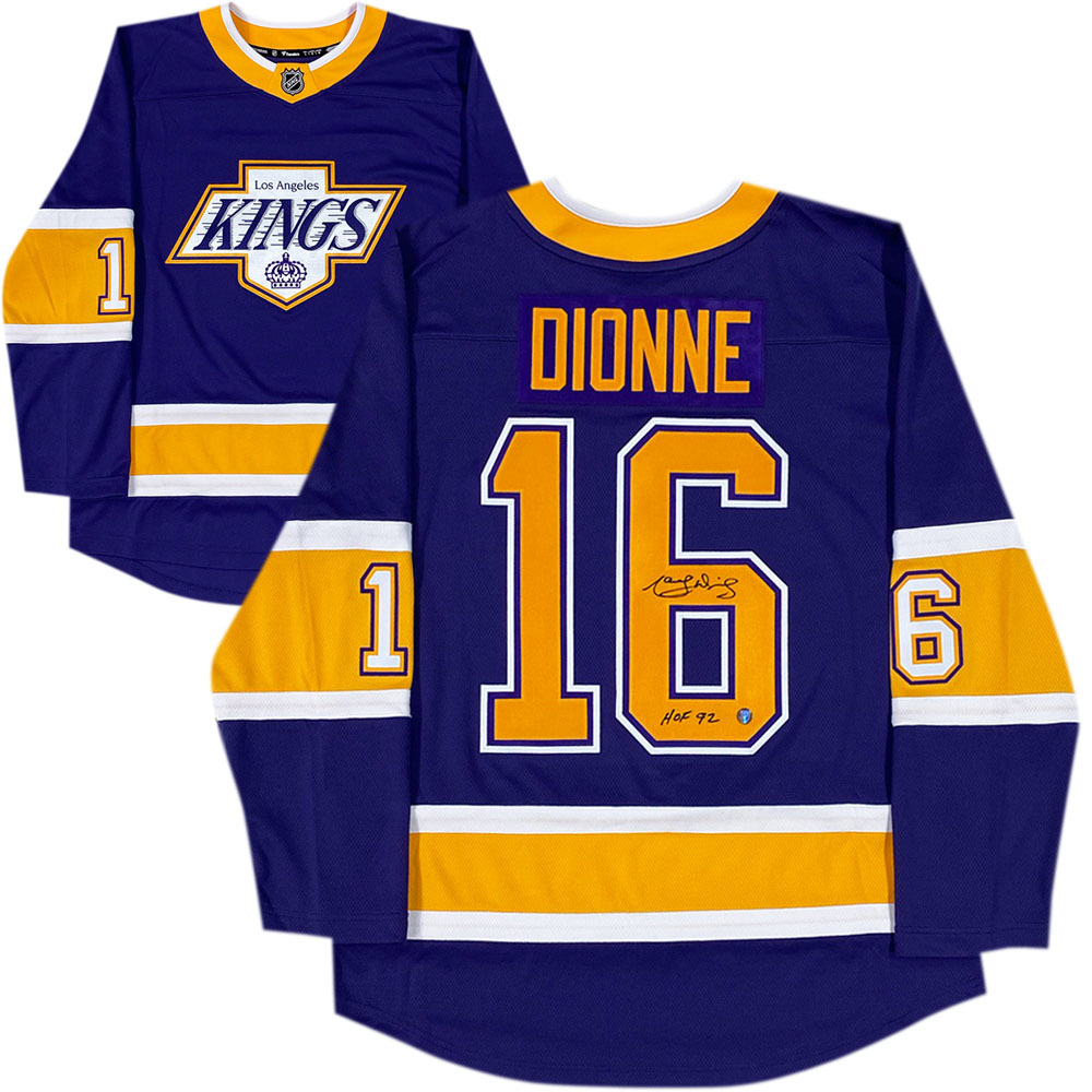 Marcel Dionne Autographed Los Angeles Kings Fanatics Special Edition Jersey
