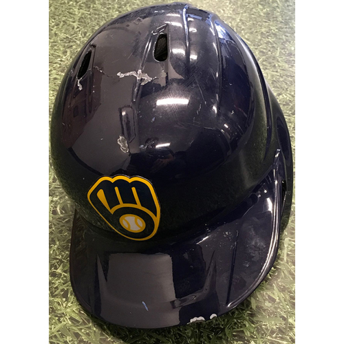 Photo of Willy Adames 2021 Game-Used Batting Helmet (07/08/21: 1-3, BB, R & 09/26/21: 2-4, HR, 3 RBI, 3 R, BB - Division Title Clinching Game)