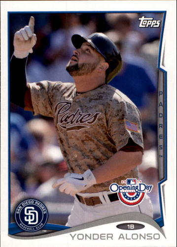 Photo of 2014 Topps Opening Day #61 Yonder Alonso