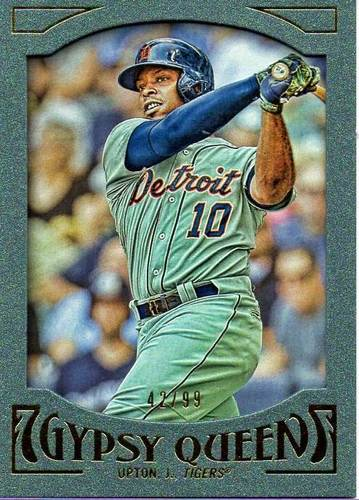 Photo of 2016 Topps Gypsy Queen Framed Green #38 Justin Upton