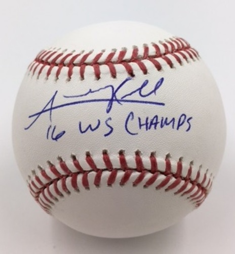 "Photo of Addison Russell ""16 WS Champs"" Autographed Baseball"