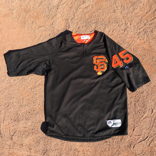 San Francisco Giants - 2017 Game-Used Batting Practice Jersey Worn by #45 Matt Moore (Size: L)