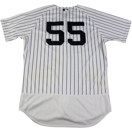 Photo of Sonny Gray New York Yankees Game-Used #55 Pinstripe Jersey (9/1/2017) (Size 44)