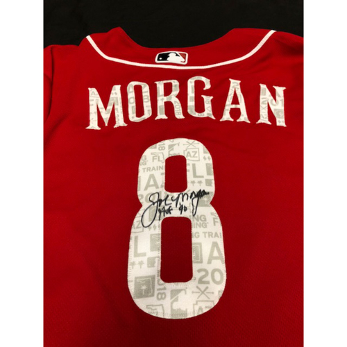 Photo of Joe Morgan Autographed 2018 Spring Training Jersey -- Member of the National Baseball Hall of Fame (Class of 1990)