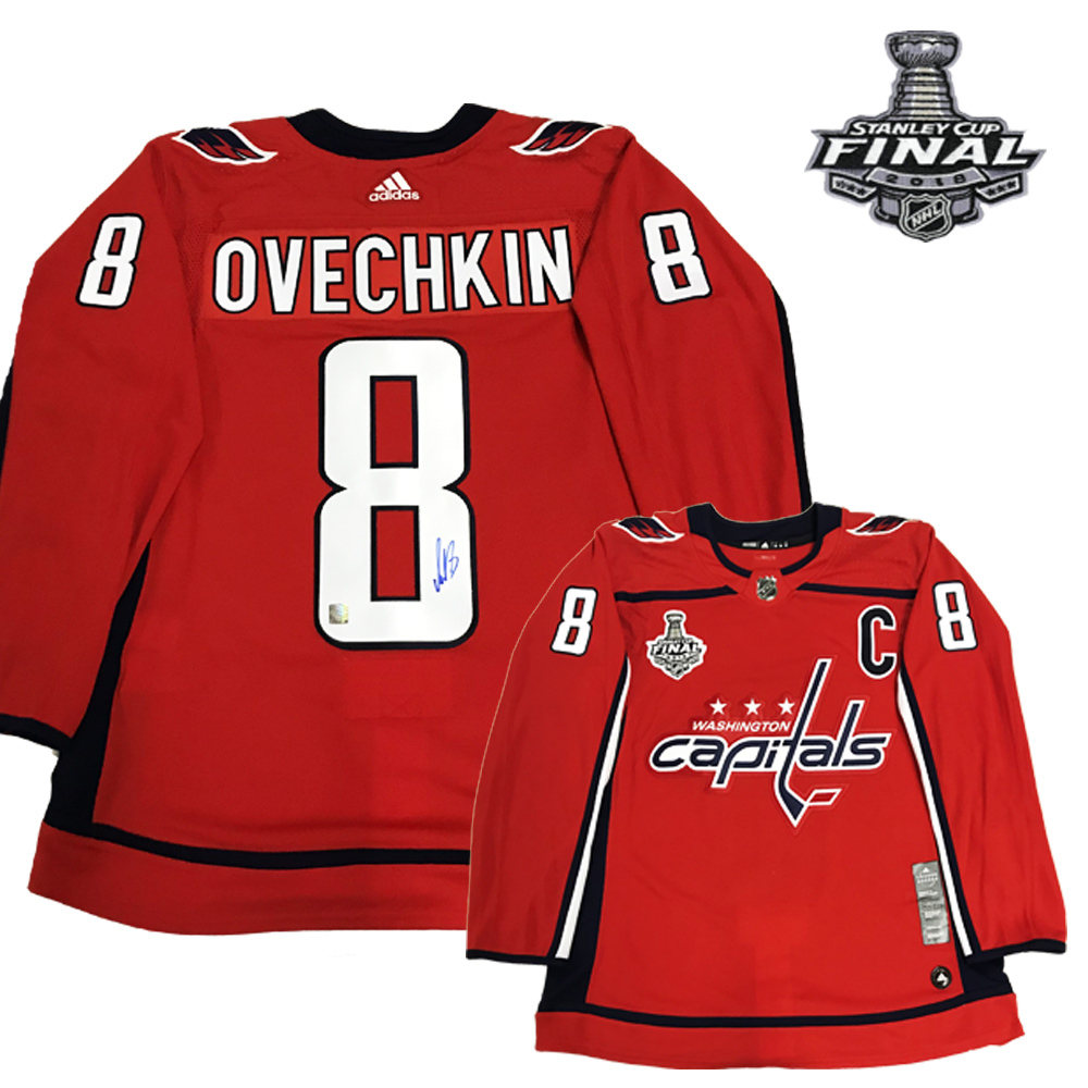 low priced 2c16a 9d789 ALEXANDER OVECHKIN Signed Washington Capitals Red Adidas PRO ...