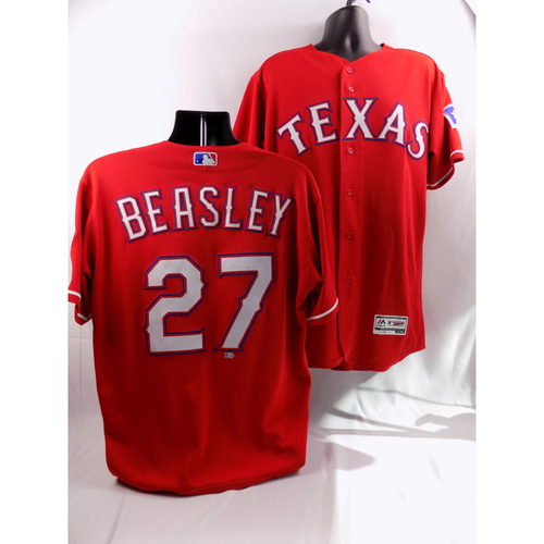 Photo of 8/7/18 - Game-Used Red Jersey - Tony Beasley