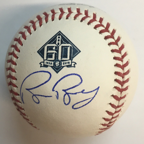 Photo of Buster Posey Autographed 60th Anniversary Baseball