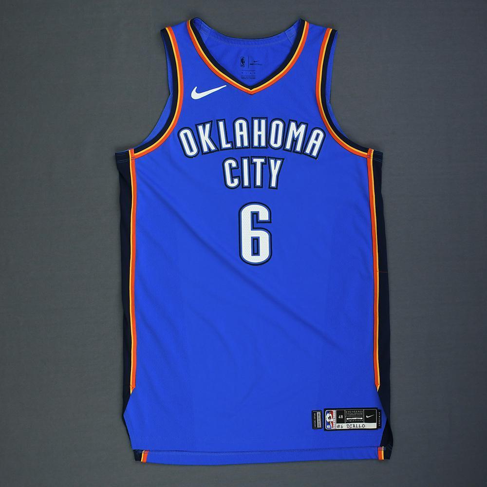 los angeles d8a20 881a5 Hamidou Diallo - Oklahoma City Thunder - Rookie-Debut - Game ...