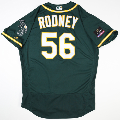 Photo of 2019 Japan Opening Day Series - Game Used Jersey - Fernando Rodney, Oakland Athletics at Nippon Ham Fighters -3/17/2019