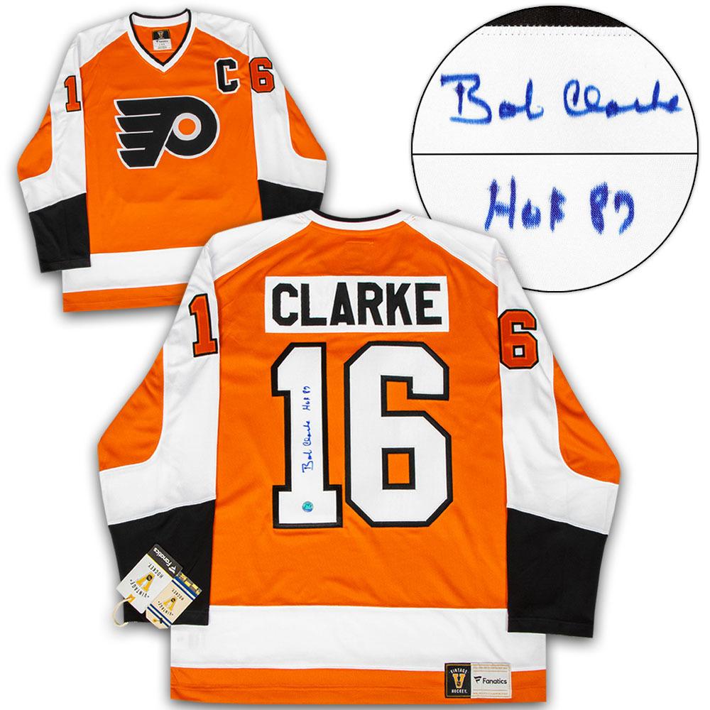 Bobby Clarke Philadelphia Flyers Autographed Fanatics Vintage Hockey Jersey