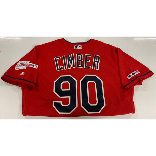 Photo of Adam Cimber Game Used Alternate Home Jersey